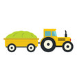 tractor in cartoon style isolatedd on white vector image