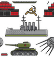 ussr military equipment architecture and vector image