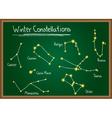 Winter Constellations on chalkboard vector image vector image