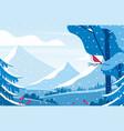 wintertime scenery flat vector image vector image
