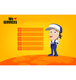 Smile and thumb up mechanic man cartoon for design vector image