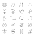 Garden and Tools Icons Line Set Of copy vector image