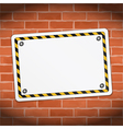 Blank Banner on Brick Wall vector image