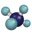 3d model molecule ch4 vector image