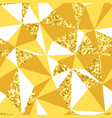 abstract geometric seamless pattern with gold vector image