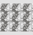 abstract ornament from gray triangles and spirals vector image vector image