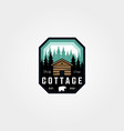 adventure cottage emblem logo patch design vector image
