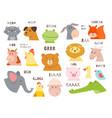 animals talking farm and wild fauna characters vector image