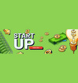 banner start up new business vector image vector image
