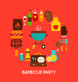 barbecue party postcard vector image vector image
