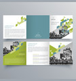 brochure design 598 vector image