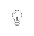 bulb thin5 vector image vector image