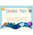 Certification template with space theme vector image vector image