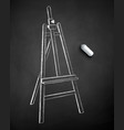 chalk drawn easel vector image vector image
