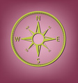 compass icon orienteering traveling or camping in vector image