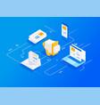 digital marketing agency vector image