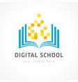 digital school color logo vector image