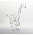 Dinosaur model Polygon vector image vector image