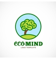 Eco Mind Abstract Logo Template Brain Tree vector image vector image