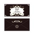 elegant horizontal envelope template for vip vector image vector image