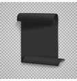 Folded Black Paper Sheet Template vector image