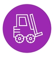 Forklift line icon vector image vector image