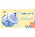 global data analysis flat banner template vector image
