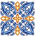 italian ceramic tile pattern ethnic folk ornament vector image vector image