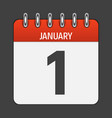 january 1 calendar daily icon vector image vector image