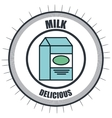 line delicious food isolated icon vector image