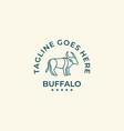 logo wild buffalo emblem vector image