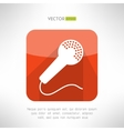Microphone icon in modern flat design Clean and vector image
