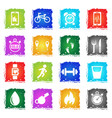 monitoring apps icon set vector image vector image