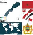 Morocco map world
