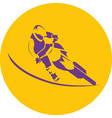 motocross biker silhouette vector image