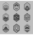 Mount badge set1 vector image vector image