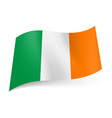 national flag of ireland green white and orange vector image vector image