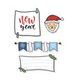 new year decoration hand drawn banner vector image vector image