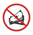 no money sign vector image vector image