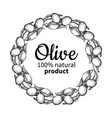 olive wreath hand drawn of vector image