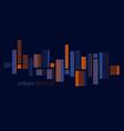 orange and blue urban city light header vector image vector image