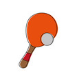 paddle ball game icon vector image