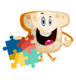 puzzel bread on white background vector image