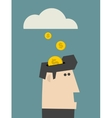 Rain of coins vector image