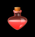 red flask icon cartoon style vector image vector image