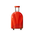 red polycarbonate suitcase with wheels traveler vector image vector image