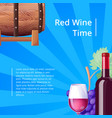 red wine time poster stripes vector image vector image