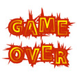 red yellow game over sign gaming concept video vector image vector image
