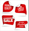 sale speech bubbles red collection vector image vector image