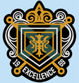 scroll emblem badge vector image vector image